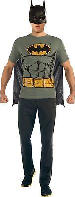 Batman T-shirt Adult Costume Kit Top Movie Comic Superhero Theme Party Halloween ()