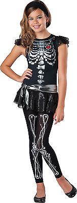 Child Bone Skeleton Bling Costume