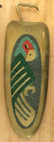 Vintage Mexican Folk Art Mosaic Tray Salvador Teran