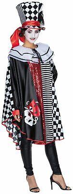 Pierrot Cape Umhang Harlekin Kostüm Clown Karneval Fasching
