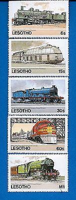 Lesotho Scott 453-457 Trains Mint NH Stamps Complete Set