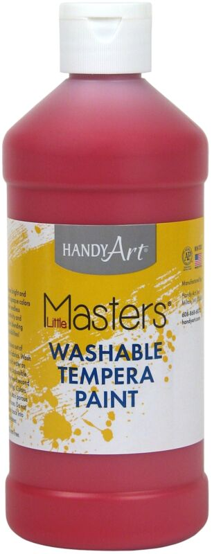Little Masters(TM) Washable Tempera Paint 16Oz-Red