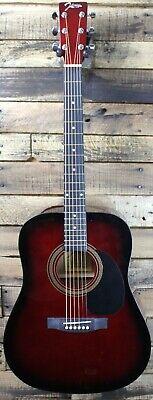 Johnson JG-610-R  Dreadnought Acoustic Guitar, Red Burst,  Damaged #R6015