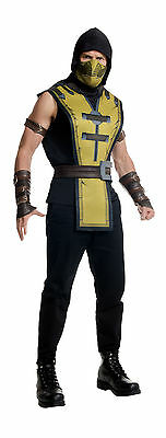 ON COSTUME! YELLOW NINJA MENS ADULT RUBIE'S NEW [STANDARD] (Mortal Kombat Scorpion Kostüm)