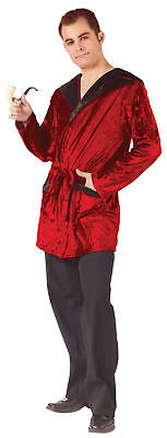 Playboy Hefner Kostüm (Hugh Hefner Smoking Robe Velvet Adult Men Costume Playboy Funworld Halloween)