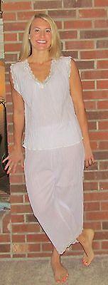"""Pajamas Ladies Cotton Gauze Lilac Sleeveless Capri Pants, Fabulous Price """"MADE I Cotton Sleeveless Capri Pajama"""