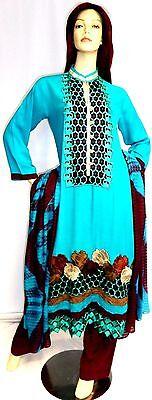 Shalwar kameez eid pakistani designer indian sari salwar abaya hijab suit uk 14