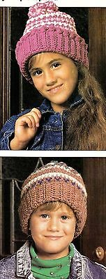 WARM Winter Caps for Kids/Crochet Pattern INSTRUCTIONS ONLY - Winter Crafts For Kids