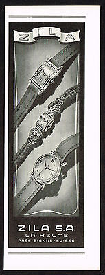 1940's Vintage 1946 Zila Watch Co. Watches  - Paper Print AD