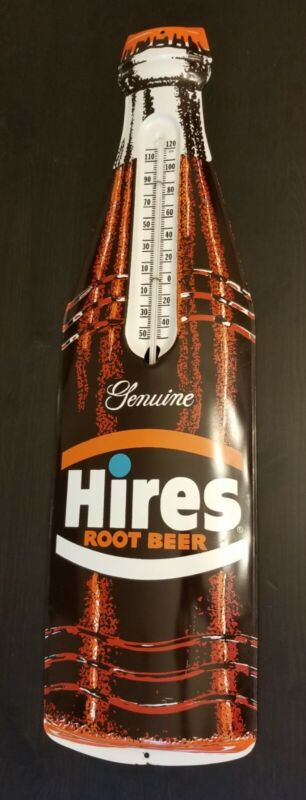 Vintage Rare Hires Root Beer Thermometer Sign in Original Excellent Condition