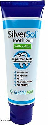 Silver Solution Silver Sol Tooth Gel 1 5 Oz Silver Technology  Therapeutic Grade