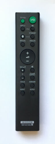 New Sony Replacement Remote Rmt-ah100u For Sony Home Audio System Ht-ct780