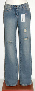 HEIDI KLUM Destroyed Turn Up Krempeljeans 7/8 Jeans blau Gr. 19 = 38 kurz NEU