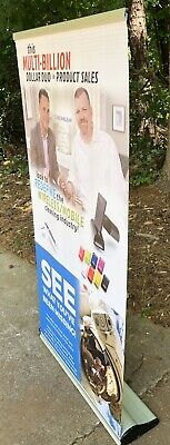 33x63 Retractable Rollup Banner Stand Trade Show Display Sign Holder Wedding