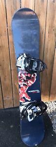 Rossignol snowboard + bindings