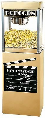 New Hollywood Premiere 6 Oz. Popcorn Popper Machine And Matching Pedestal Stand