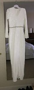 Beautiful Bridal wrap sequinced dress size US8 Edmonton Edmonton Area image 1