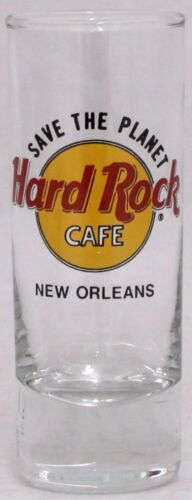 """Hard Rock Cafe New Orleans Save the Planet Shooter Double Shot Glass 4"""" Tall"""