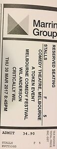 1 x Wil Anderson 'Critically Wil' Comedy Show ticket Melbourne CBD Melbourne City Preview