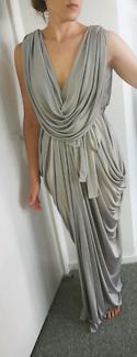 Silver Grecian Maxi Dress from Sheike