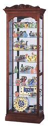 Howard Miller 680-342 (680342) Hastings Lighted Curio Cabinet - Windsor Cherry
