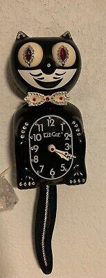 Restored vintage electric kit cat klock kat clock jeweled California clock