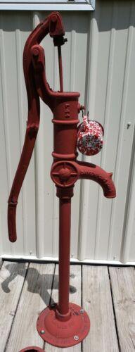 "ORIGINAL  ""RED JACKET"" Antique Farm Well Pump, Davenport,Iowa"