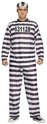 Jailbird Costume (New Jailbird Mens Convict Costume by Fun World 9918)