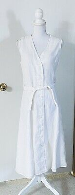 NWT. Polo Ralph Lauren Womens White Sleeveless Knee Length A Line Dress Size 8
