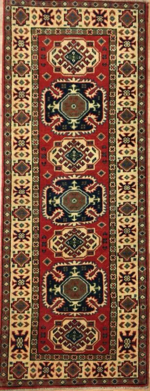 Amazing Afghan - Colorful Kazak Rug - Tribal Oriental Carpet - 2.1 X 5.7 Ft.