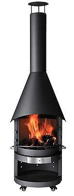 Grillkamin / Gartenkamin asado Fuego Stahl fahrbar Ø70cm