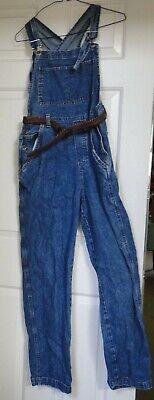 Vintage Overalls & Jumpsuits Women's Denim Jeans Full Length Dungaree Overalls Jumpsuit w/Belt,Size Small $19.99 AT vintagedancer.com