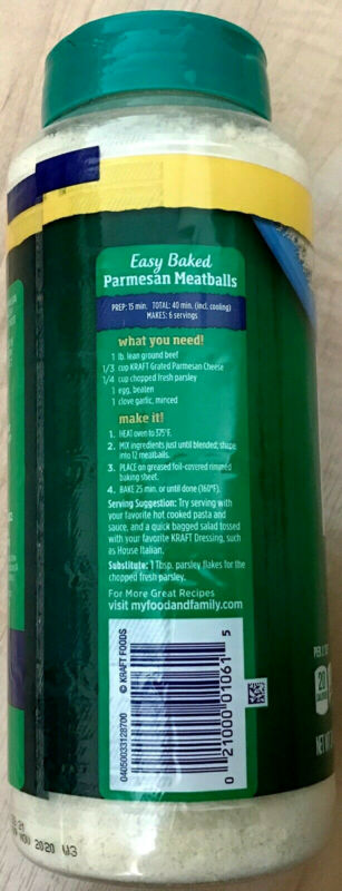 New Kraft Grated Parmesan Cheese 24 oz Size!  Free Shipping