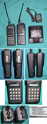 LOT OF 2 MOTOROLA GTX TWO WAY RADIOS & HTN9702A CHARGER #H11UCD6CB1AN