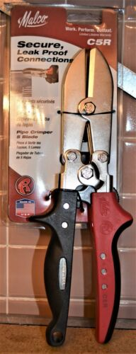 Set of 2 - Malco C5R Redline 5 Blade Pipe/Duct Crimper - NEW