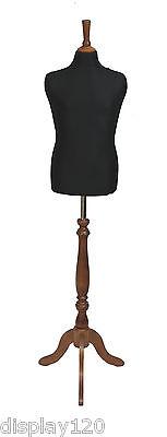 Deluxe Niños 10/12 Sastre Maniquí Costura Pantalla Negro Busto Rosa Soporte