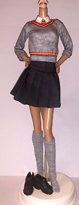 Harry Potter Hermione Granger Doll Outfit Hogwarts Wizard School Uniform Shoes (Hermione Granger Outfits)