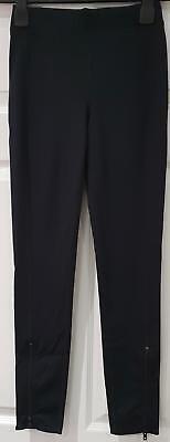 Activewear-crop Hose (RAG & BONE JEAN Black Elastic Waist Activewear Crop Leggings Trousers Pants S)
