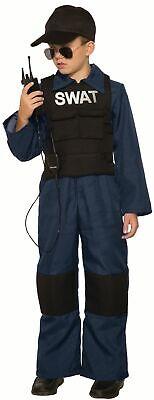 3-tlg. SWAT SPECIAL FORCES Kinder Kostüm Jungen Overall Weste Funkgerät - Special Forces Kind Kostüm