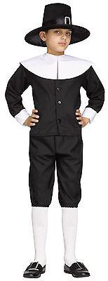 Thanksgiving PILGRIM Boy Child Costume Shirt Knickers Hat - Kostüme Knickers