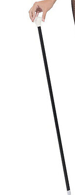 Long Black Stage Dance Cane Stick Magician Show Tap Willy Wonka Astaire Costume  Black Dance Cane
