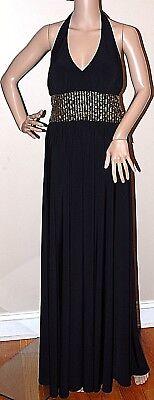 $199 New CLEARANCE SALE JS Botique Black Halter Formal Long Dress Gown Beaded 8 (Kleid Sale Clearance)
