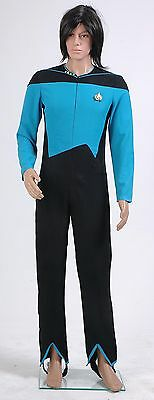 Star Trek Blue Jumpsuit Uniform Plus Size Halloween Costume Cosplay Custom made (Plus Size Star Trek Costumes)