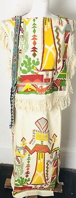 Vintage Halloween Costumes For Women (Vintage Women's Small Mexican Aztec Poncho Halloween)