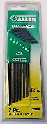 ALLEN 59900 7 PIECE SAE BALL PLUS HEX KEY SET USA