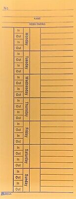 Time Cards 100 Adams 2-sided 3 38 X 8 14 Fastfree Shipping 100 Count