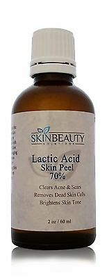 2 oz Lactic Acid Skin Peel - 70% Acne  Age Spots Wrinkles Melasma, used for sale  Shipping to India