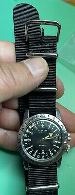 Vintage Glycine Airman Automatic Swiss Stainless Steel circa 1960s in A+++ Cond