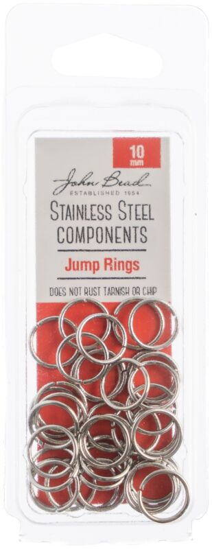Stainless Steel Jump Ring 75/Pkg-10mm