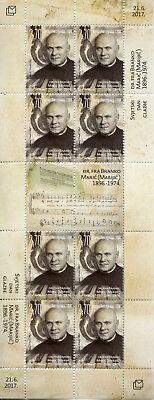 Bosnia & Herzegovina 2017 MNH Dr Fra Branko Maric World Music Day 8v M/S Stamps